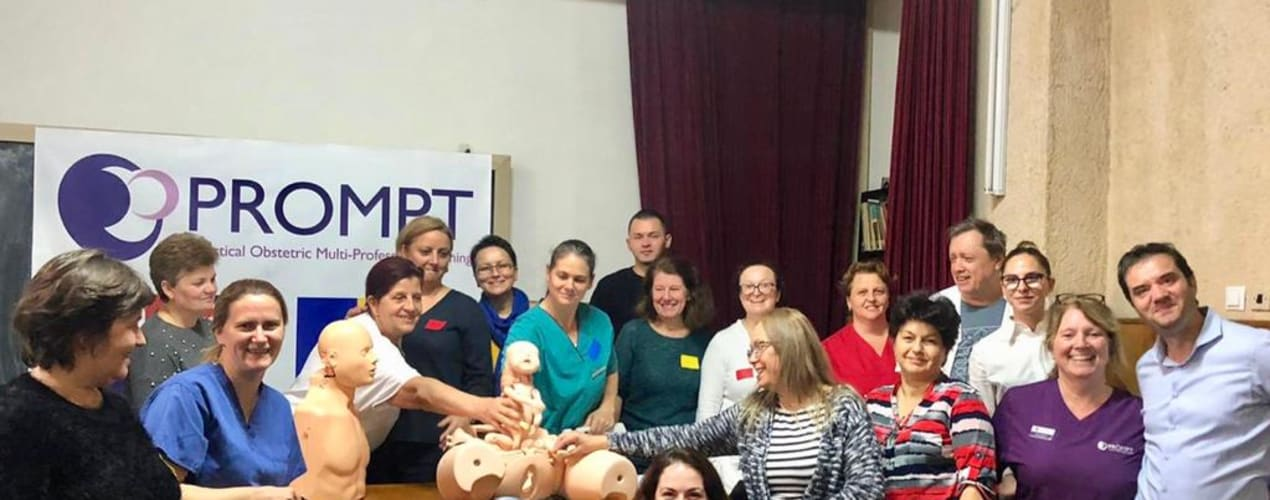 PROMPT Romanian team receive gift of training mannequin October 2019