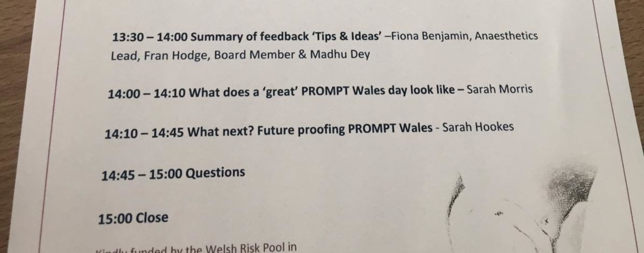PROMPT Wales Faculty Leads Event 6th February 2020